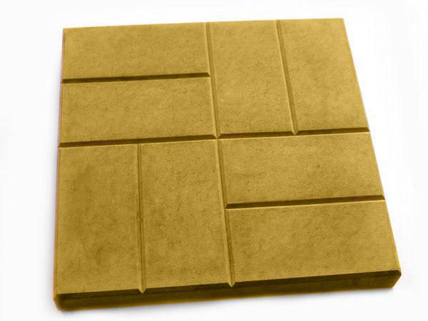 Тротуарная плитка 8 кирпичей желтый