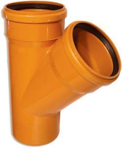 Тройник 110-110х45гр (для наруж канализации)