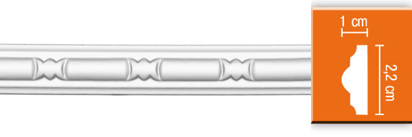 Молдинг с орнаментом Decomaster 98010 (размер 22х10х2400)
