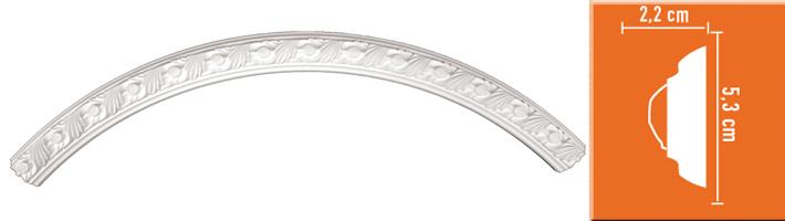 Радиус [1/4 круга] Decomaster 898102-100 (Rнар.55, Rвн.50см)
