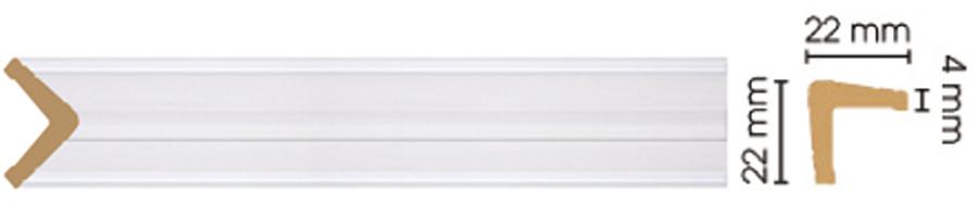 Уголок Decomaster 116S-118 размер 22х22х2400)