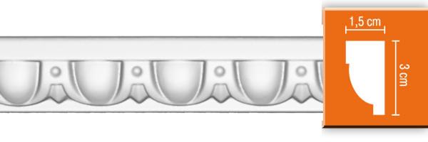 Молдинг с орнаментом Decomaster DT 8015 гибкий (размер 30х15х2400)