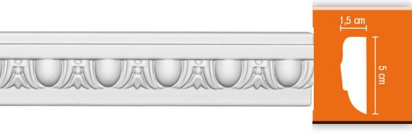 Молдинг с орнаментом Decomaster 98202 (размер 15х50х2400)