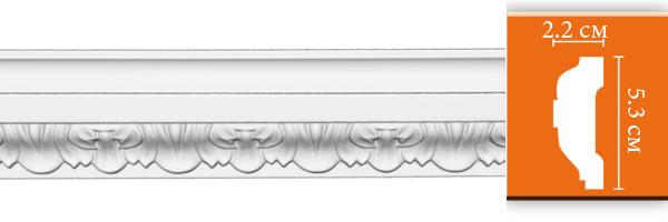 Молдинг с орнаментом Decomaster DT 8053 гибкий (размер 53х22х2400)