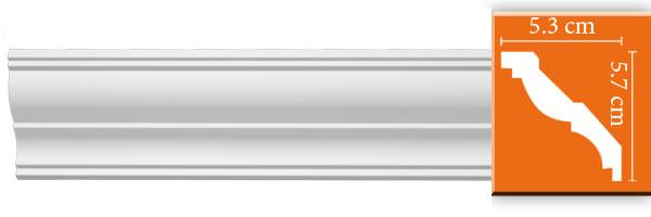 Плинтус гладкий Decomaster DP 350 (размер 57х53х2400)