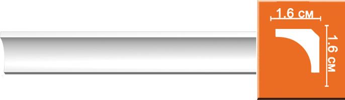 Плинтус гладкий Decomaster 96240 (размер 16х16х2400)
