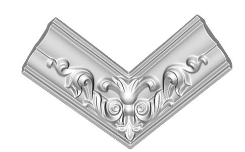 Внутренний угол литой Decomaster DP 350R (размер 57х170х170)