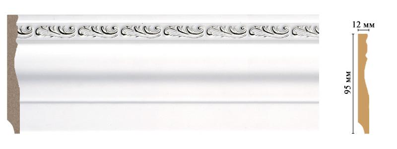 Цветной плинтус Decomaster 153-60 (размер 95х12х2400)