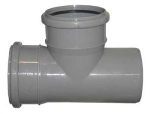 Тройник 110-110х90гр (внутр. канализация)