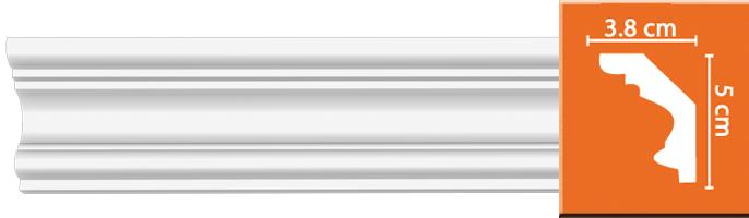 Плинтус гладкий Decomaster 96686 (размер 50х38х2400)