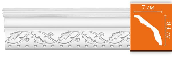Плинтус с орнаментом Decomaster 95621 (размер 84х70х2400)