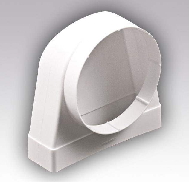 Соединитель угловой 60х120 х диам. 100 (вентиляция)