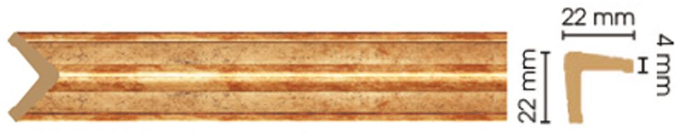 Уголок Decomaster 116S-552 (размер 22х22х2400)
