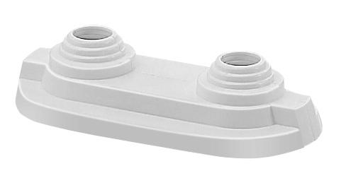 Декоративная  накладка для 2 трубок15 мм