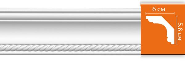 Плинтус с орнаментом Decomaster DT 128 (размер 58х60х2400)