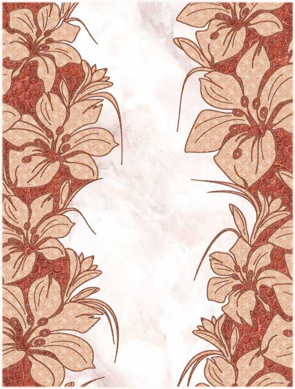 Декор Шахтинская плитка Фабрицио 02 красный 25х33