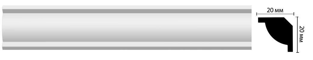 Плинтус потолочный Decomaster D132 (20х20х2000мм)