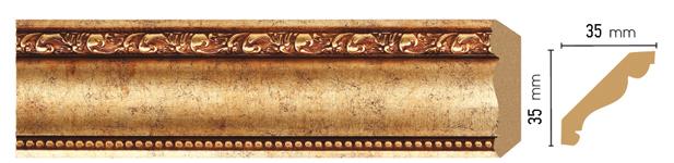 Потолочный плинтус (карниз) Decomaster 155S-552 (размер 35х35х2400)