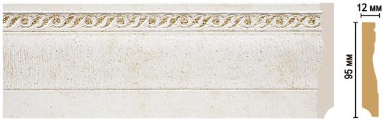 Цветной напольный плинтус Decomaster 153-40 (размер 95х12х2400)