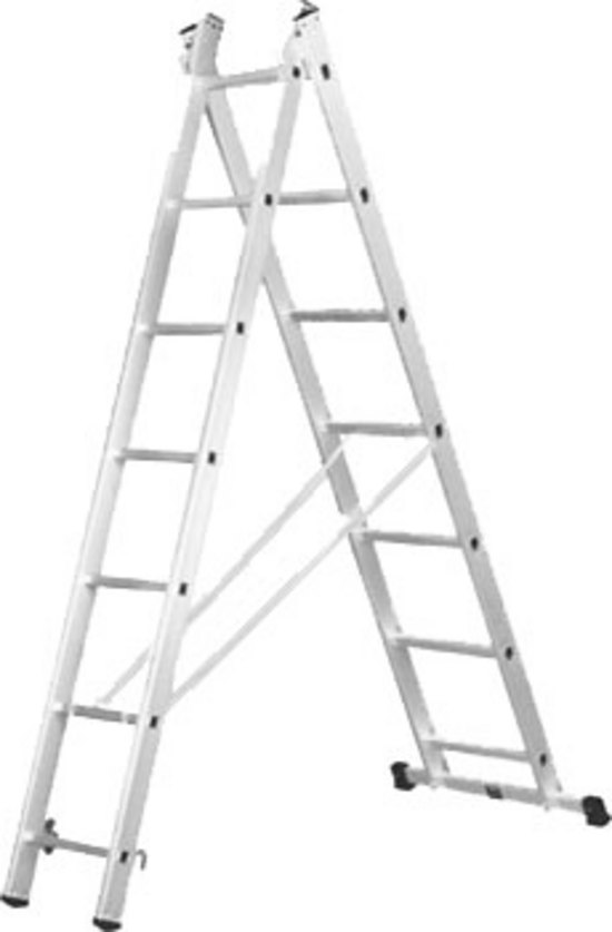 Лестница 2-х секционная 2х17 (4.9м/8.8м)