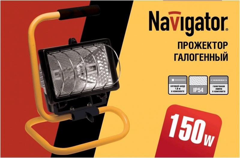 Прожектор галогенный NFL-PH2-150-R7s/BLY (150 Вт, переносной , черно-желтый)