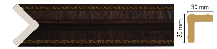 Цветной угол Decomaster 116-1 (размер 30х30х2400)
