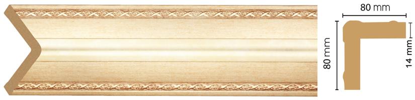 Уголок Decomaster 140-933 (размер 80х80х2400)