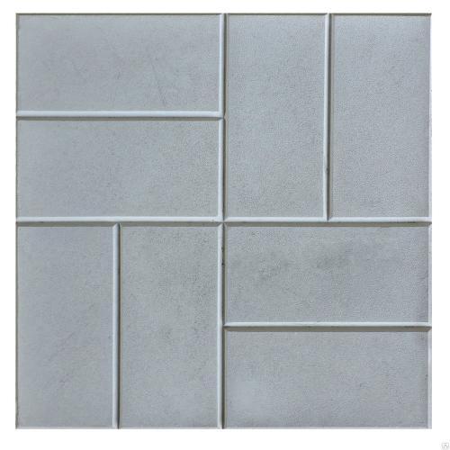 Тротуарная плитка 8 кирпичей серый