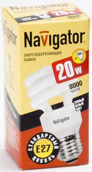 Лампа э/сб Navigator NСL-SH10-20-827-E27 теплый (20Вт)