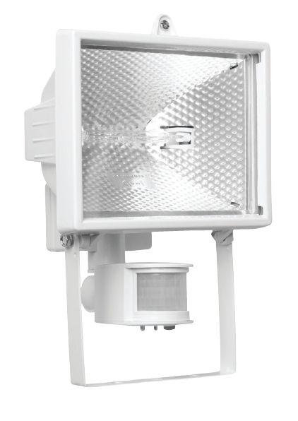 Прожектор галогенный NFL-SH1-150-R7s/WH (150 Вт, с датчиком движения, ,белый)