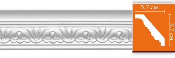 Плинтус с орнаментом Decomaster 95609 (размер 57х57х2400)