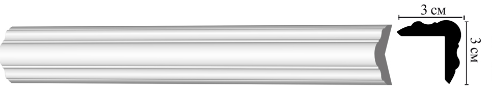 Молдинг-угол Decomaster D003 (30х30х2000мм)