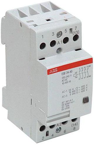 ABB ESB-24-40 Контактор модульный 24А кат 24V 4НО AC/DC (GHE3291102R0001)