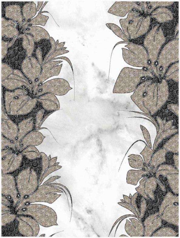 Декор Шахтинская плитка Фабрицио 02 черный 25х33