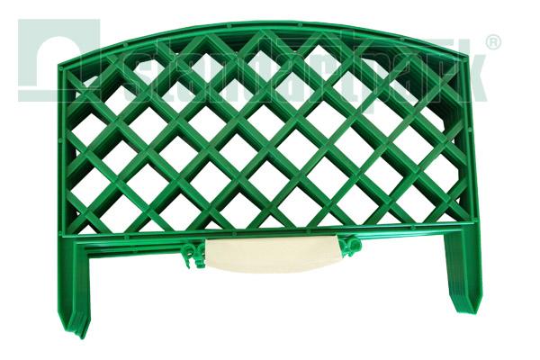Забор декоративный №6 ЗД-3200.240-ПП пластиковый  зеленый 8306-З