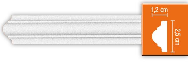 Молдинг гладкий Decomaster 97012 гибкий (размер 12х25х2400)