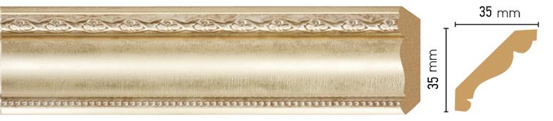 Потолочный плинтус (карниз) Decomaster 155S-937 (размер 35х35х2400)