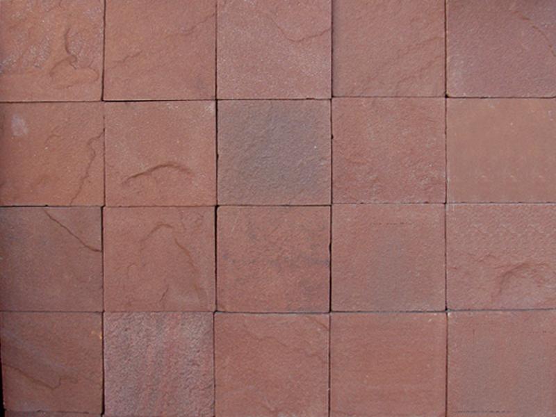 Плитка из природного камня красный терракот (1м2)