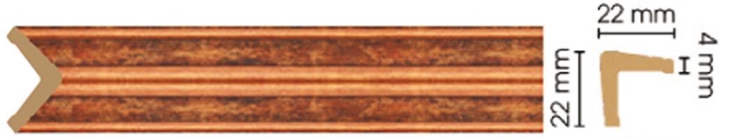 Уголок Decomaster 116S-767 (размер 22х22х2400)