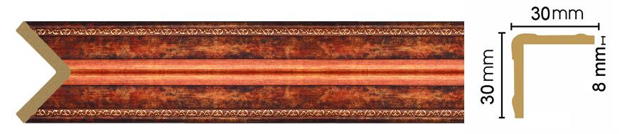 Уголок Decomaster 116-767 (размер 30х30х2400)