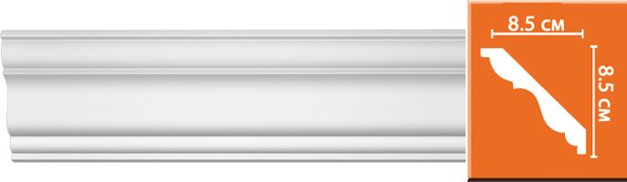 Плинтус гладкий Decomaster 96406 (85х85х2400мм)