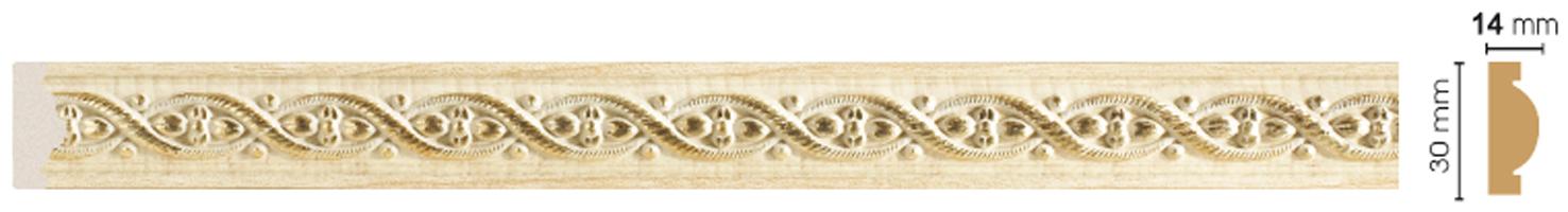 Цветной молдинг Decomaster 157-5 (размер 30х14х2400)