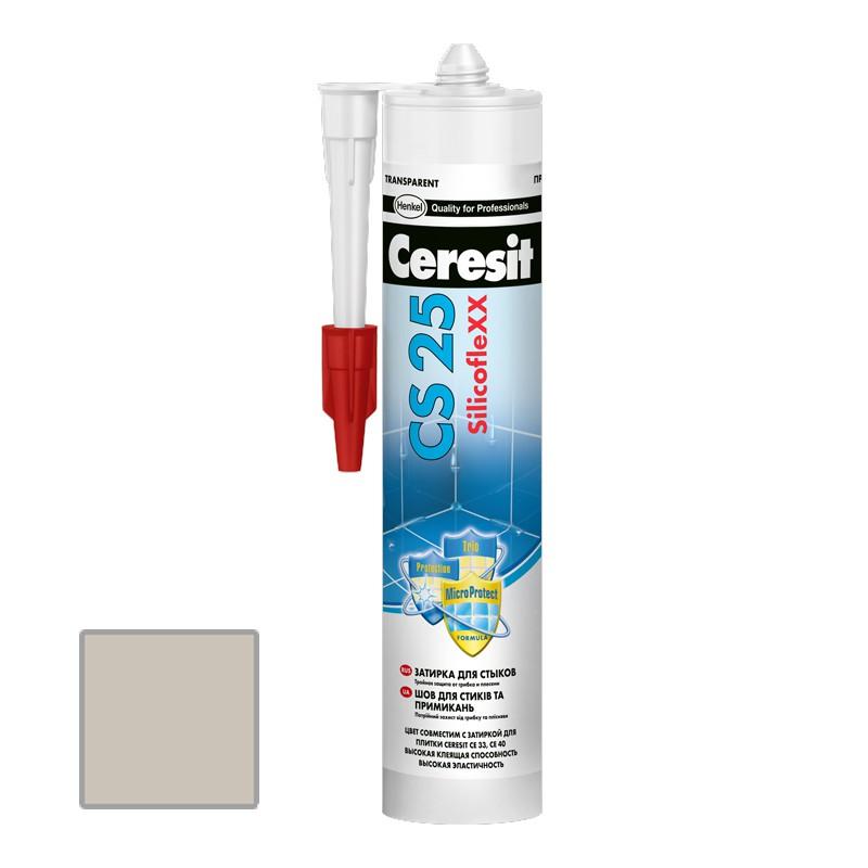Затирка силиконовая Ceresit CS 25 серая 0,28 л