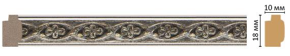 Багет Decomaster 158-55 (размер 18х10х2400)