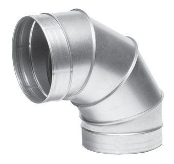 Отвод 90гр диам.125 (воздуховод оцинкованный)
