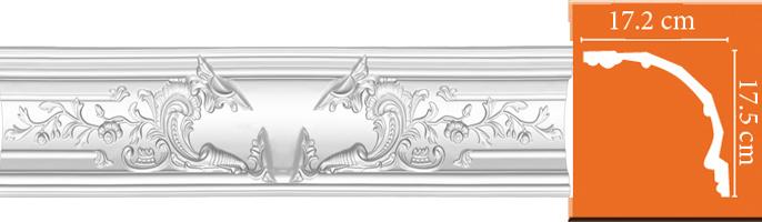 Элемент для декорирования внутренних углов Decomaster DP 42 (размер 175х172х1280)