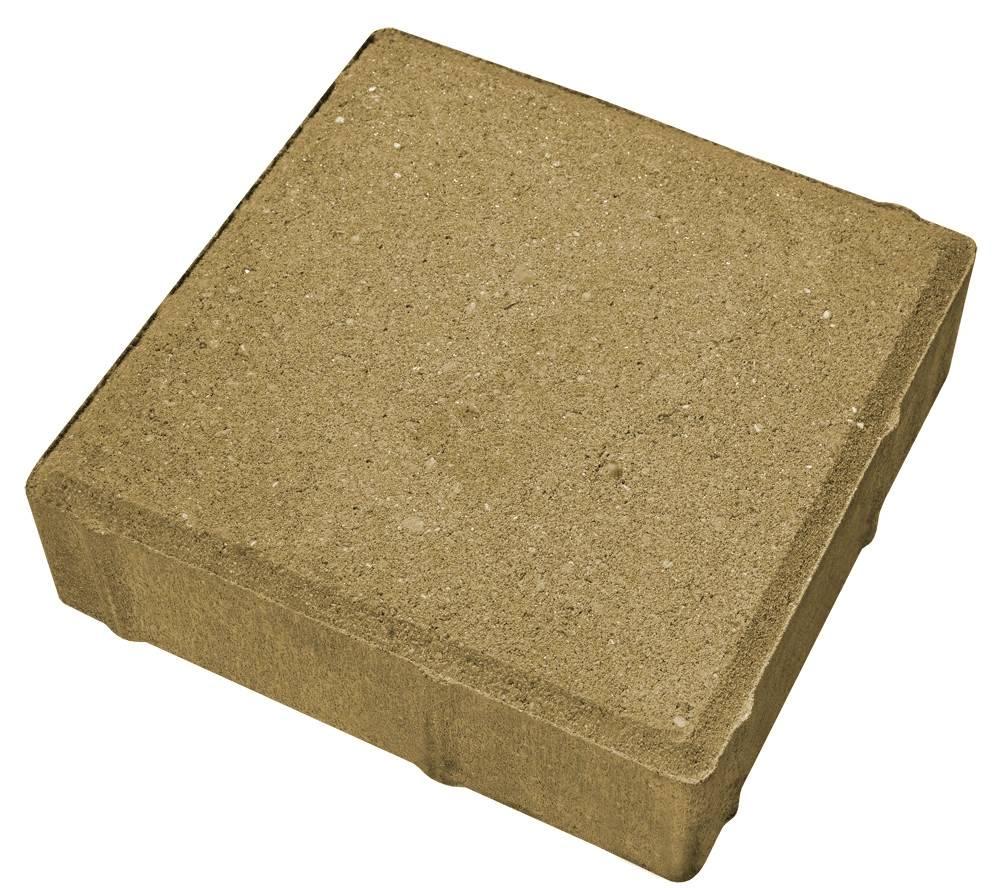 Тротуарная плитка Квадрат желтый 400x400x60мм