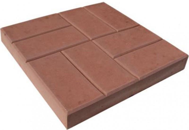 Тротуарная плитка 8 кирпичей темно-серый