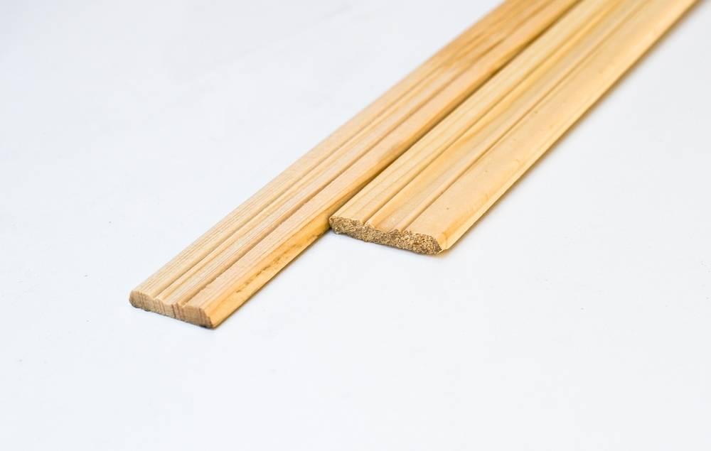 Планка (раскладка, нащельник) деревянная фигурная 50мм