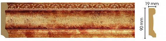 Плинтус напольный Decomaster 166-126 (размер 90х19х2400)